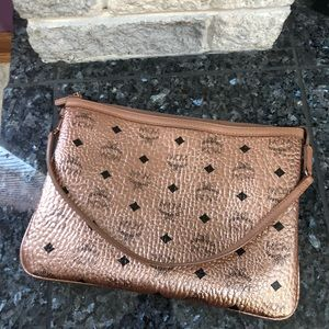 MCM Rose Gold Pouch